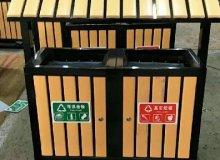 洁宜美钢木垃圾桶出货柳州